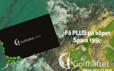 Golfhäftet 2020 – PLUS PÅ KÖPET