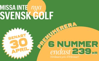 Svensk Golf till halva priset